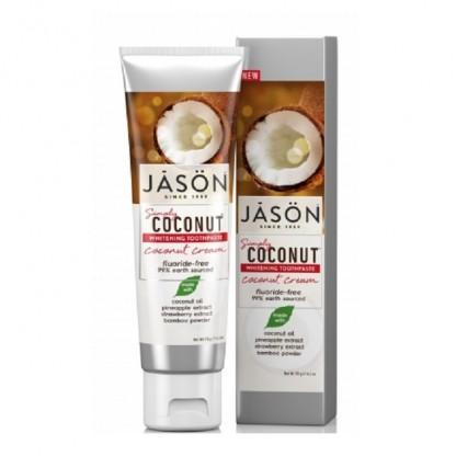 Pasta de dinti cu crema de cocos pentru albirea dintilor 119g Jason