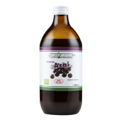 Suc de acai pur BIO 500ml Health Nutrition
