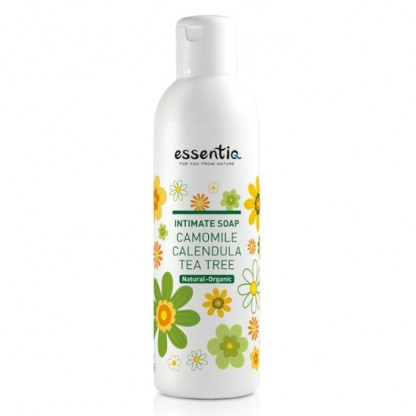 Sapun intim organic Musetel, Galbenele si Tea Tree 200ml Essentiq
