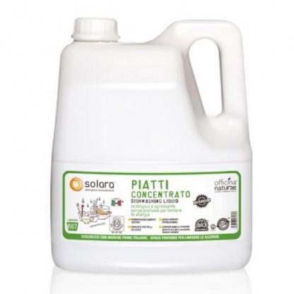 Detergent lichid de vase super concentrat (fara parfum) BIO 4 litri Solara ECO BIO