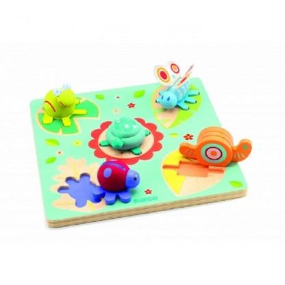 Puzzle Djeco relief Lilo testoasa si prietenii 1an