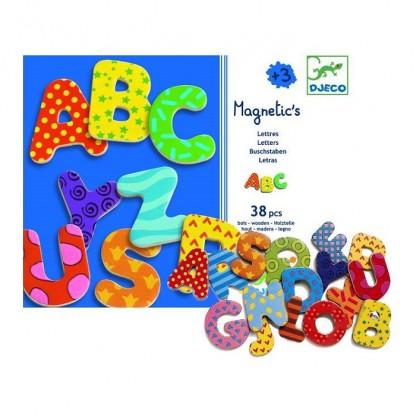 38 Litere magnetice colorate pentru copii Djeco, de la 3 ani