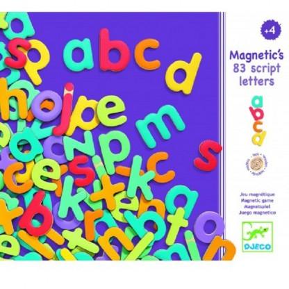 83 Litere magnetice colorate pentru copii Djeco, de la 4 ani