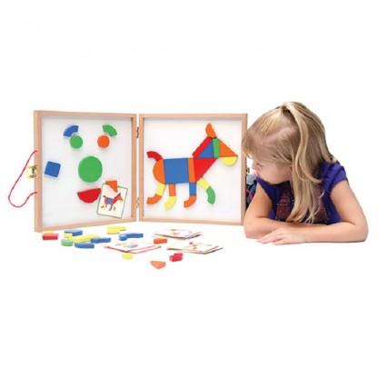 Geoforme joc cu magneti Djeco, de la 4 ani