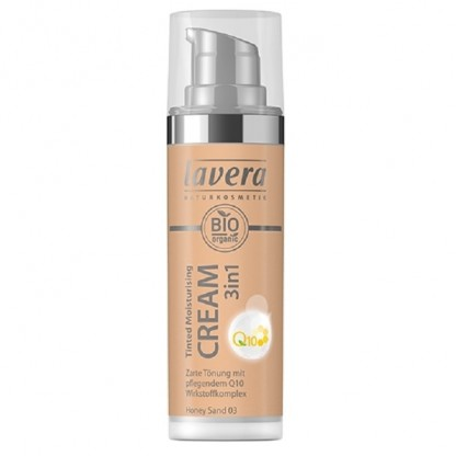 Crema nuantatoare 3-in-1 cu coenzima Q10 Honey Sand 03 Lavera 30 ml
