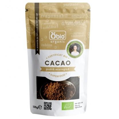 Cacao pudra raw bio 125g Obio