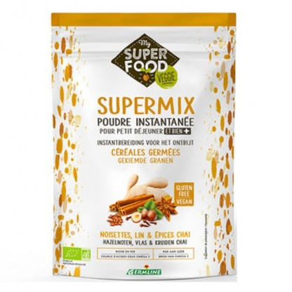 Supermix instant pentru micul dejun cu alune de padure si chai BIO 350g Germline