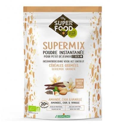 Supermix pentru micul dejun cu migdale, chia si vanilie BIO 350g Germline