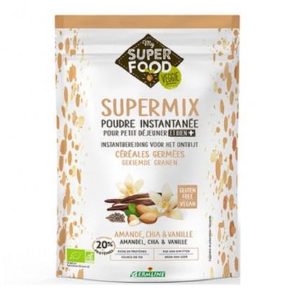 Supermix pt micul dejun cu migdale, chia si vanilie BIO 350g Germline