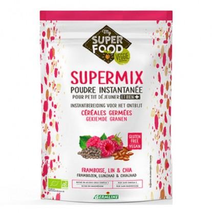 Supermix instant pentru micul dejun cu zmeura, in si chia BIO 350g Germline