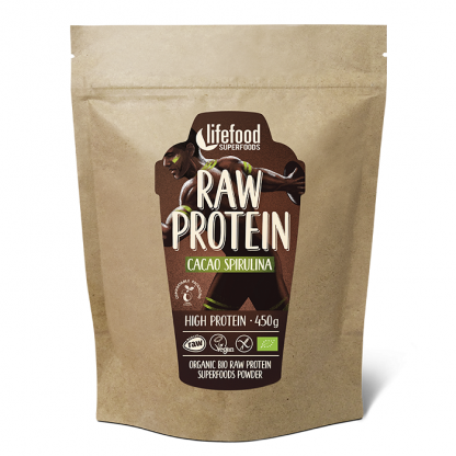 Pudra proteica Cacao Spirulina Superfood raw bio 450g Lifefood