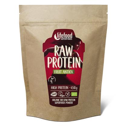 Pudra proteica Fruit Antiox Superfood raw bio 450g Lifefood