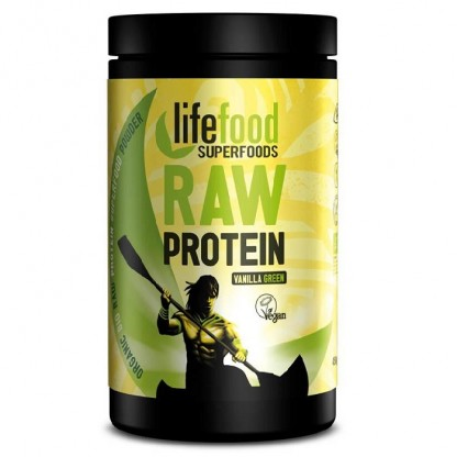 Pudra proteica Green Vanilla Superfood raw bio 450g Lifefood