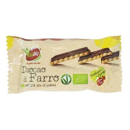 Biscuiti BIO din spelta cu invelis de ciocolata (vegan) 28g Vivibio