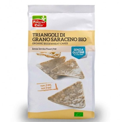 Snack bio triunghiular din hrisca (fara gluten, fara drojdie, neprajit, vegan) Finestra sul Cielo 100g