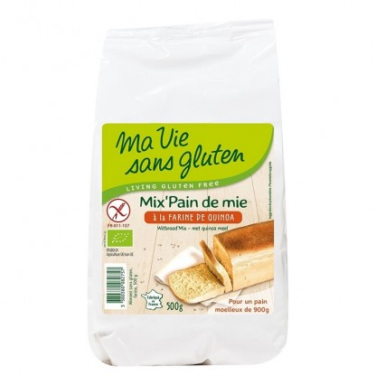 Amestec pentru paine cu quinoa fara gluten 500g Ma vie sans Gluten