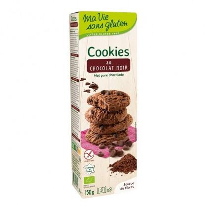 Biscuiti fara gluten cu ciocolata neagra 150g Ma vie sans Gluten
