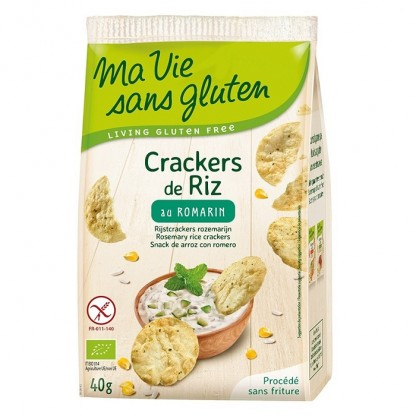 Crackers din orez cu rozmarin, fara gluten 40g Ma vie sans Gluten