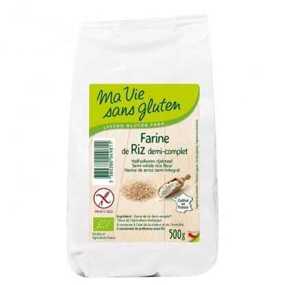 Faina de orez semiintegral, fara gluten 500g Ma vie sans Gluten