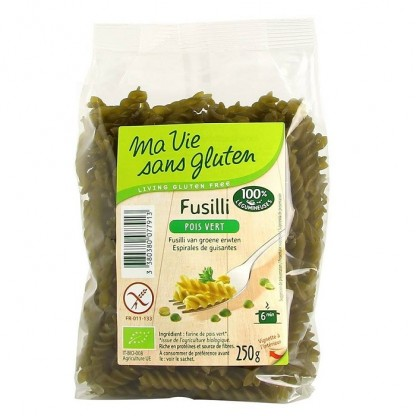 Fusilli BIO din mazare verde, fara gluten 250g Ma vie sans Gluten