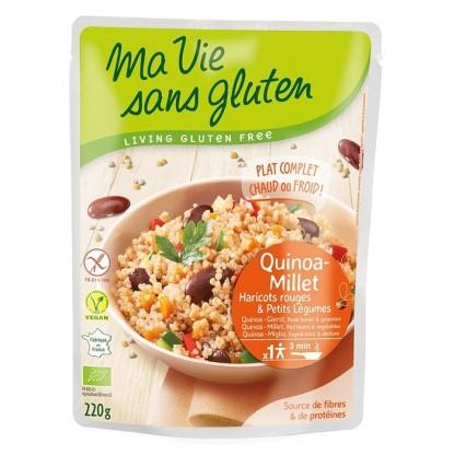 Quinoa si mei cu legume, fara gluten gata preparat 220g Ma vie sans Gluten