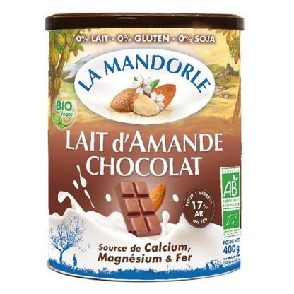 Bautura vegetala instant de migdale cu ciocolata BIO 400g La Mandorle