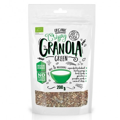 Granola BIO cu green mix 200g Diet Food