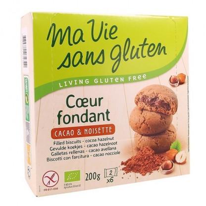 Biscuiti fara gluten cu crema de cacao si alune 200g Ma vie sans Gluten