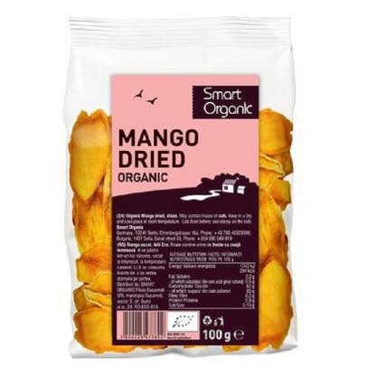 Mango uscat felii BIO 100g Smart Organic