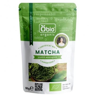 Matcha (ceai verde) pudra BIO 60g Obio