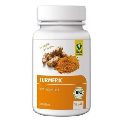 Turmeric - Curcuma bio 300mg, 300 tablete vegane RAAB