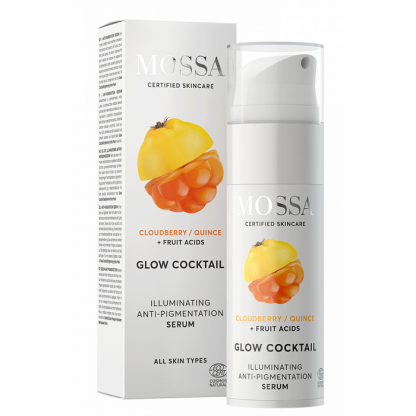 Ser iluminator anti-pigmentare GLOW COCKTAIL 25ml Mossa Organic