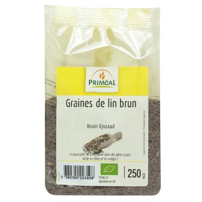 Seminte de in brun BIO 250g Primeal