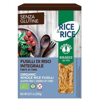 Fusilli de orez integral BIO, fara gluten 250g Probios