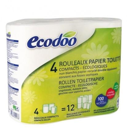 Hartie igienica compacta 4 role Ecodoo