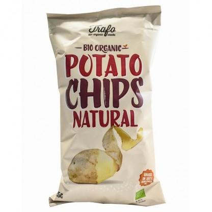 Chips BIO din cartofi cu sare 125g Trafo Organic Food