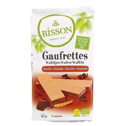 Napolitane BIO cu ciocolata 190g Bisson Bio