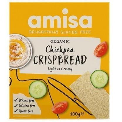 Crispbread (painici) cu naut fara gluten BIO 100g Amisa