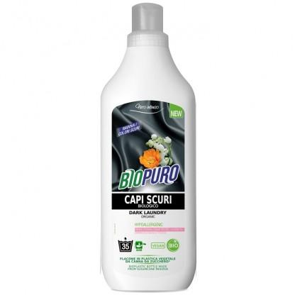 Detergent hipoalergen BIO pentru rufe negre (inchise la culoare) 1 litru BioPuro