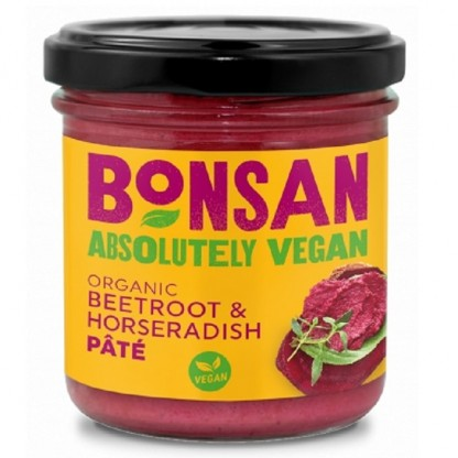 Pate vegetal cu sfecla rosie si hrean BIO 130g Bonsan