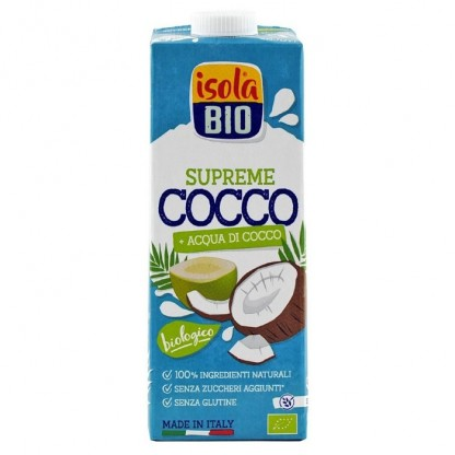 Bautura BIO din nuca de cocos Supreme, fara gluten 1L Isola Bio