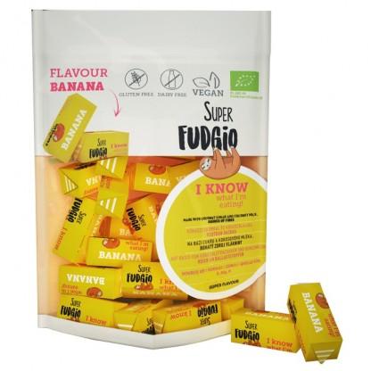 Caramele BIO cu aroma de banane 150g Super Fudgio