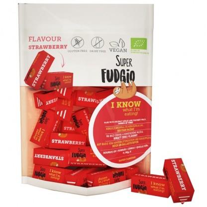 Caramele BIO cu aroma de capsune 150g Super Fudgio