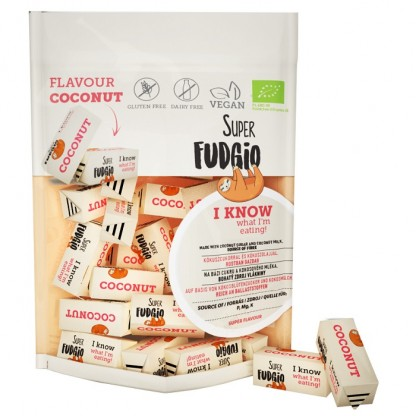 Caramele BIO cu aroma de cocos 150g Super Fudgio