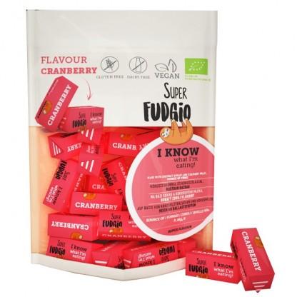 Caramele BIO cu aroma de merisoare 150g Super Fudgio