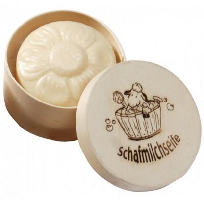 Sapun cremos cu lapte de oaie (floricica) in cutie cadou 65g Saling Naturprodukte