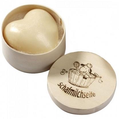 Sapun cremos cu lapte de oaie (inima) in cutie cadou 65g Saling Naturprodukte