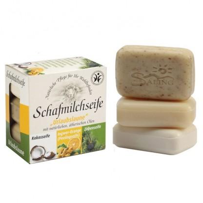 Set 3 sapunuri cremoase cu lapte de oaie 300g Saling Naturprodukte