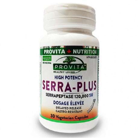 Serra Plus serapeptaza forte 30 capsule vegetale gastro-rezistente Provita