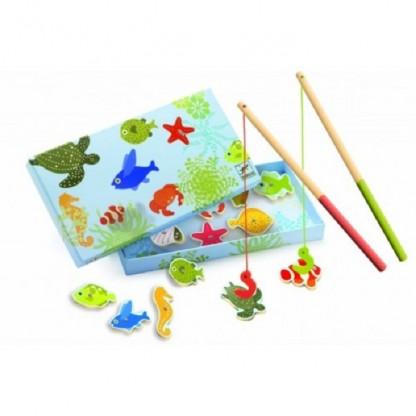Joc de pescuit magnetic pesti tropicali Djeco, de la 2 ani